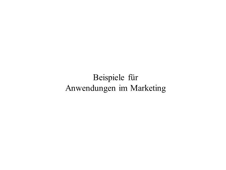 Beispiele für Anwendungen im Marketing