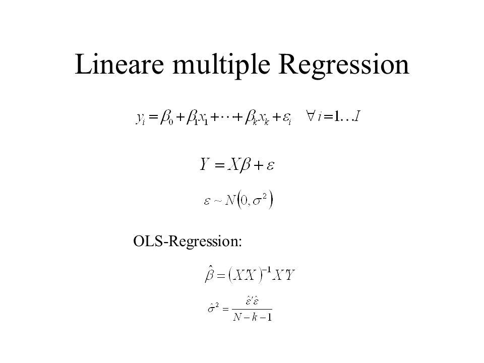 Lineare multiple Regression OLS-Regression: