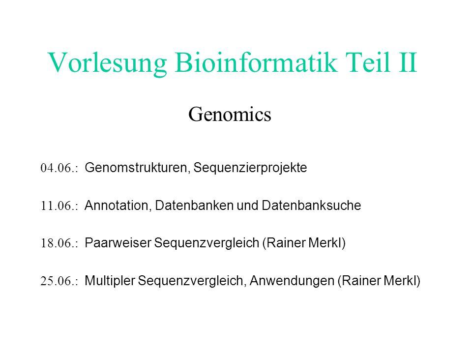 Genstruktur-Vorhersage Man unterscheidet zwischen Consensus und Nonconsensus (ab initio) Programmen.