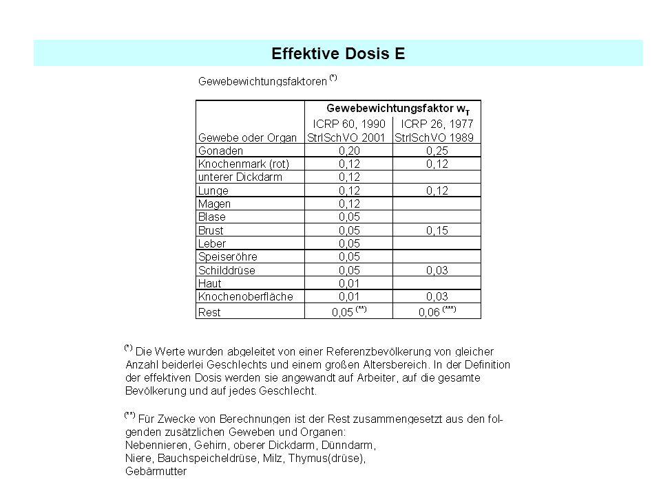 Effektive Dosis E