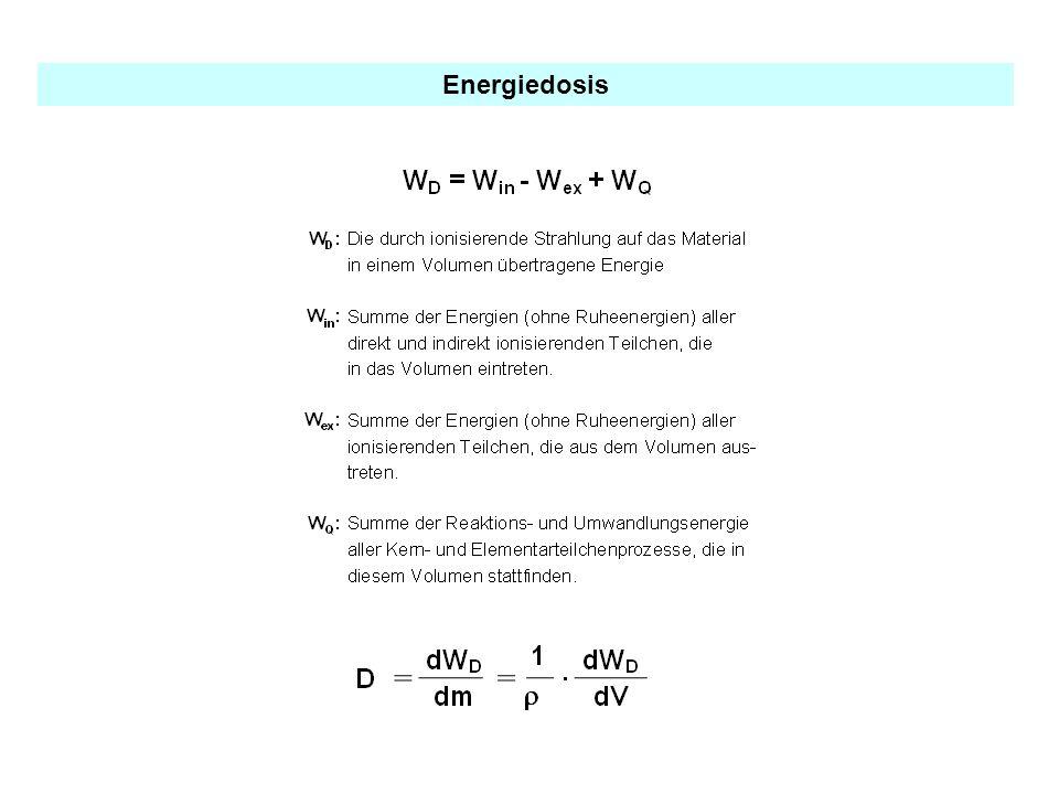 Zusammenhang zwischen Aktivitätszufuhr und Dosis Bei einmaliger Aufnahme gilt: D E = Ejk A j bzw.