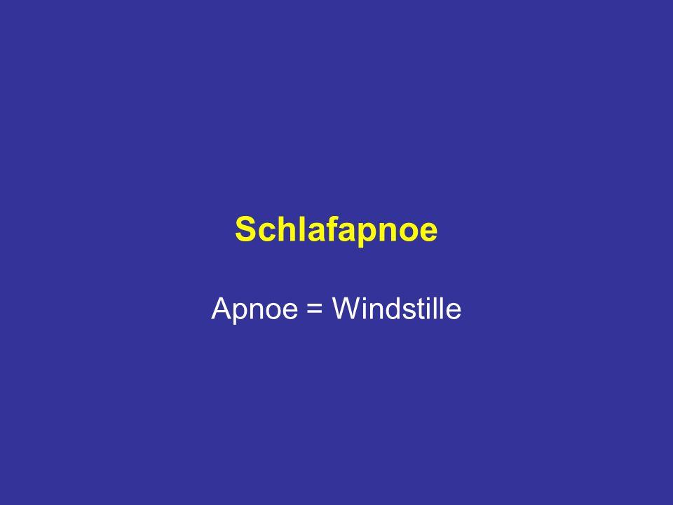 Schlafapnoe Apnoe = Windstille