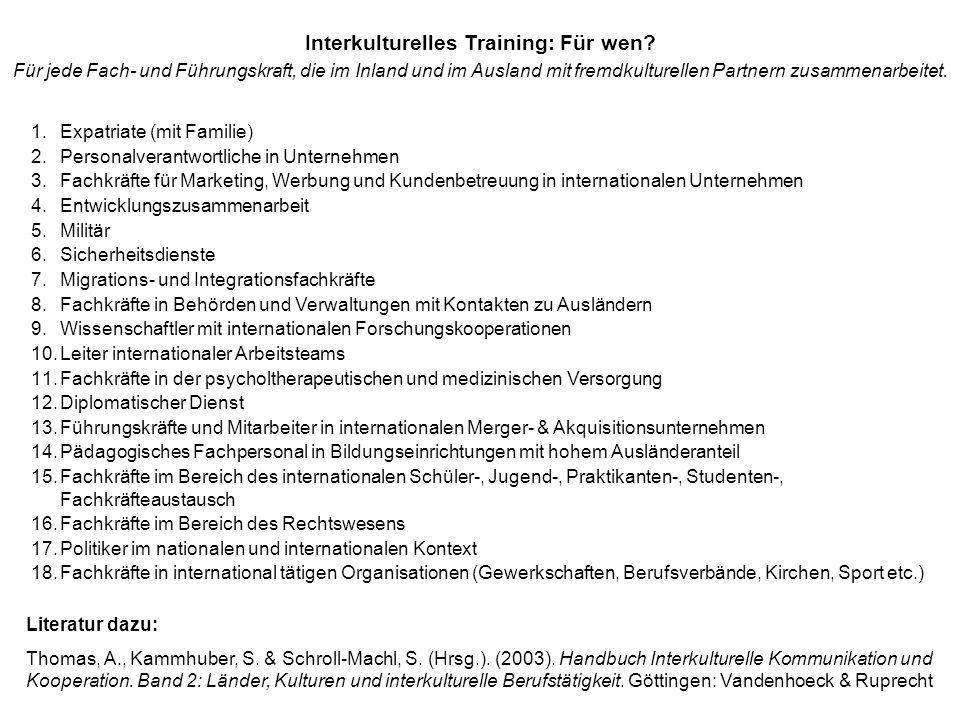 Zentrale Thesen zum interkulturellen Training 1.Alle Menschen auf der Welt haben eine Kultur ausgebildet.