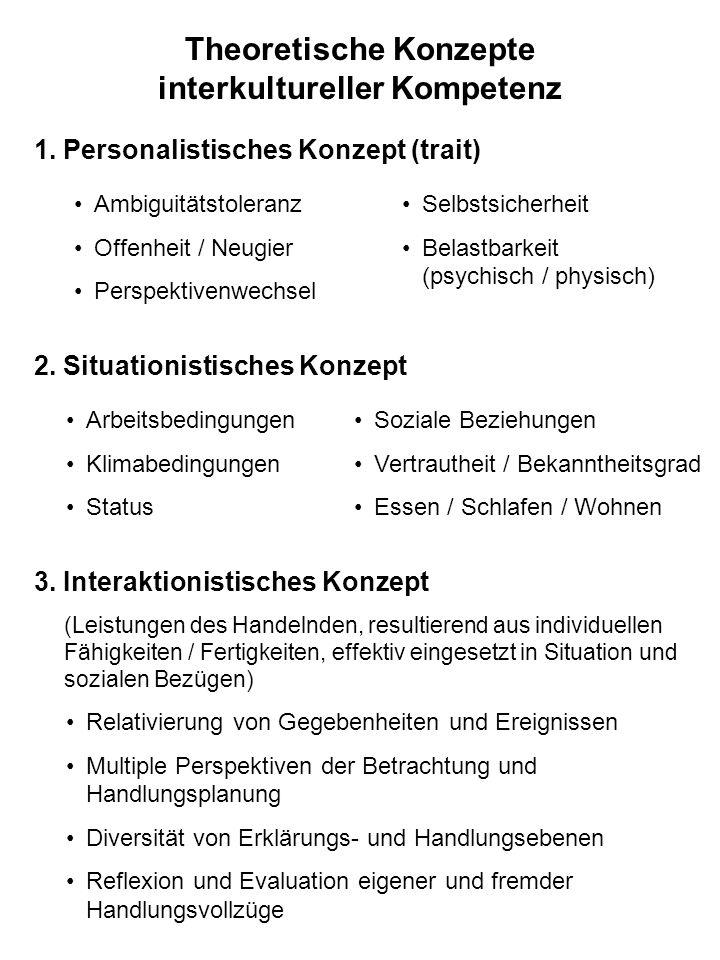 Theoretische Konzepte interkultureller Kompetenz 2.