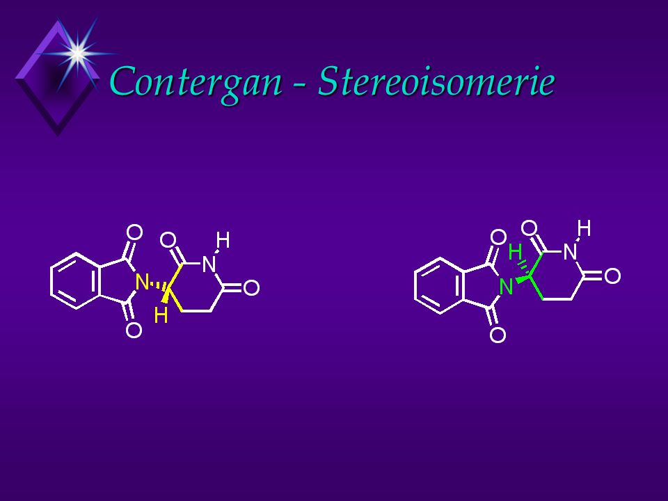 Contergan - Stereoisomerie