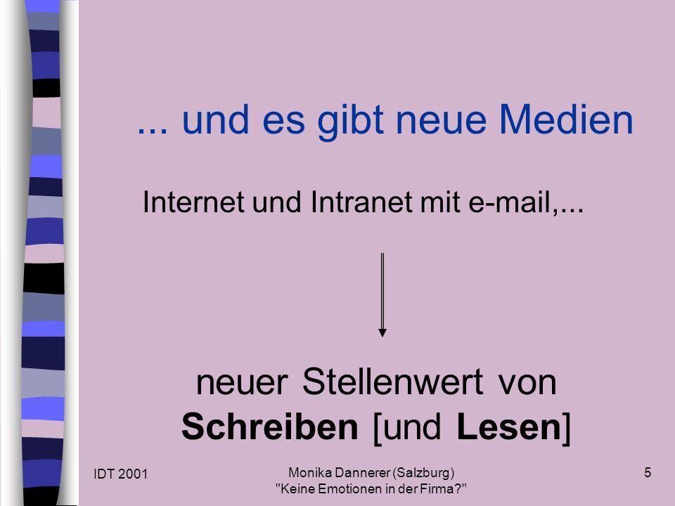 IDT 2001 Monika Dannerer (Salzburg) Keine Emotionen in der Firma 5...