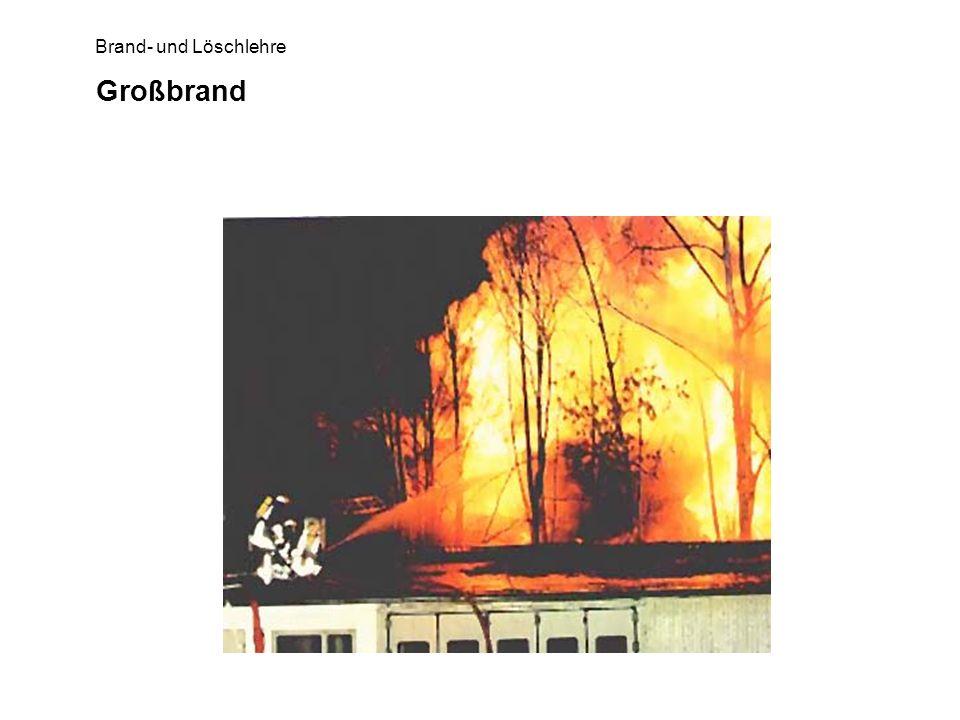 Brand- und Löschlehre Großbrand