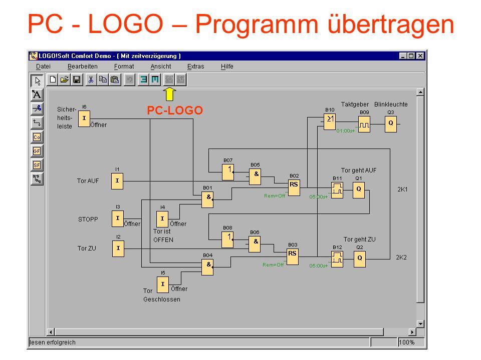 PC - LOGO – Programm übertragen PC-LOGO