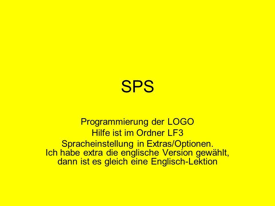SPS Programmierung der LOGO Hilfe ist im Ordner LF3 Spracheinstellung in Extras/Optionen. Ich habe extra die englische Version gewählt, dann ist es gl