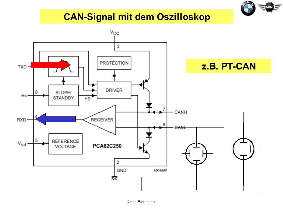Klaus Bierschenk CAN-Signal mit dem Oszilloskop z.B. PT-CAN