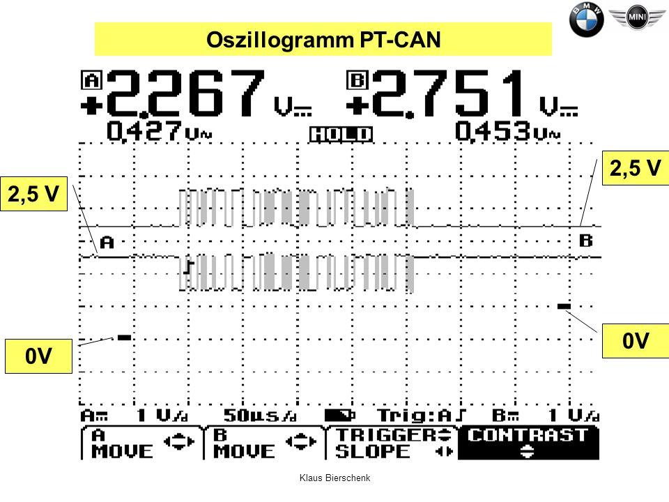 Klaus Bierschenk Oszillogramm PT-CAN 0V 2,5 V 0V 2,5 V