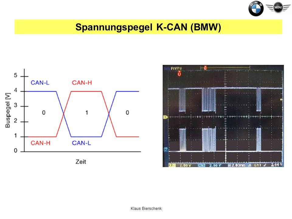 Klaus Bierschenk Spannungspegel K-CAN (BMW)