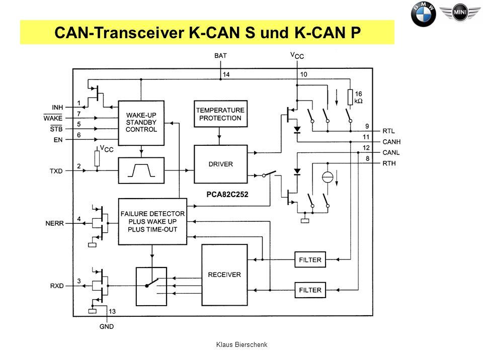 Klaus Bierschenk CAN-Transceiver K-CAN S und K-CAN P