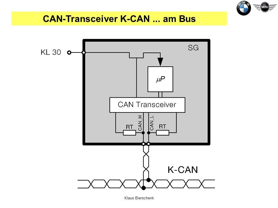 Klaus Bierschenk CAN-Transceiver K-CAN... am Bus