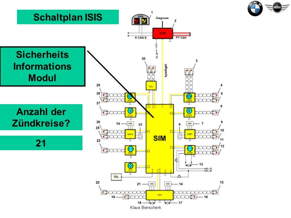 Klaus Bierschenk Schaltplan ISIS Sicherheits Informations Modul Anzahl der Zündkreise? 21