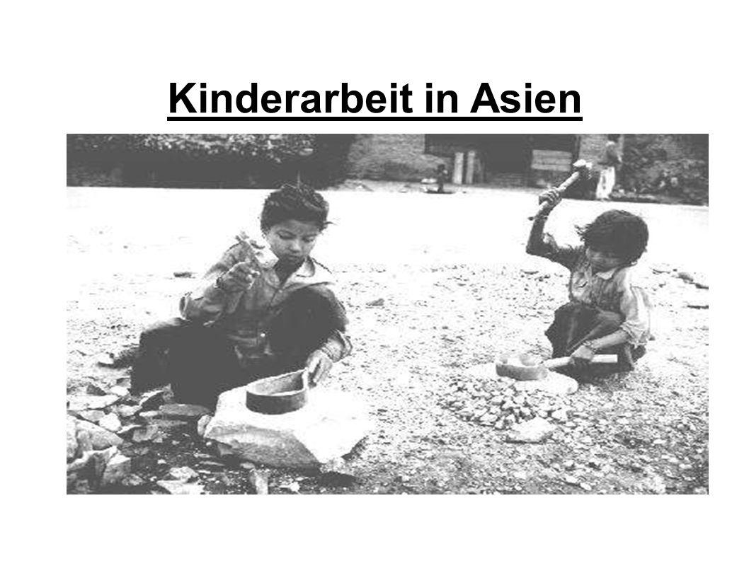 Aufbau 1.) Allgemeines über die Kinderarbeit in Asien 2.) Gründe und Ursachen von Kinderarbeit 3.) Arbeitsbedingungen der Kinder 4.) Kinderprostitution 5.) Folgen der Kinderarbeit