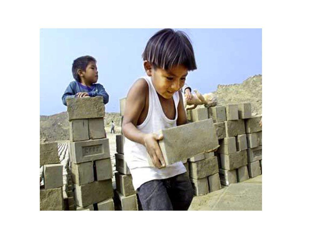 3.Arbeitsbedingungen sind in der Regel miserabel Beginnt sehr früh (unter 4 Jahren) Ländliche Kinder arbeiten größtenteils in der Landwirtschaft Städtische Kinder arbeiten meistens im Handel- und Dienstleistungsbereich, in der Fertigung, im Baugewerbe und im Haushaltsdienst