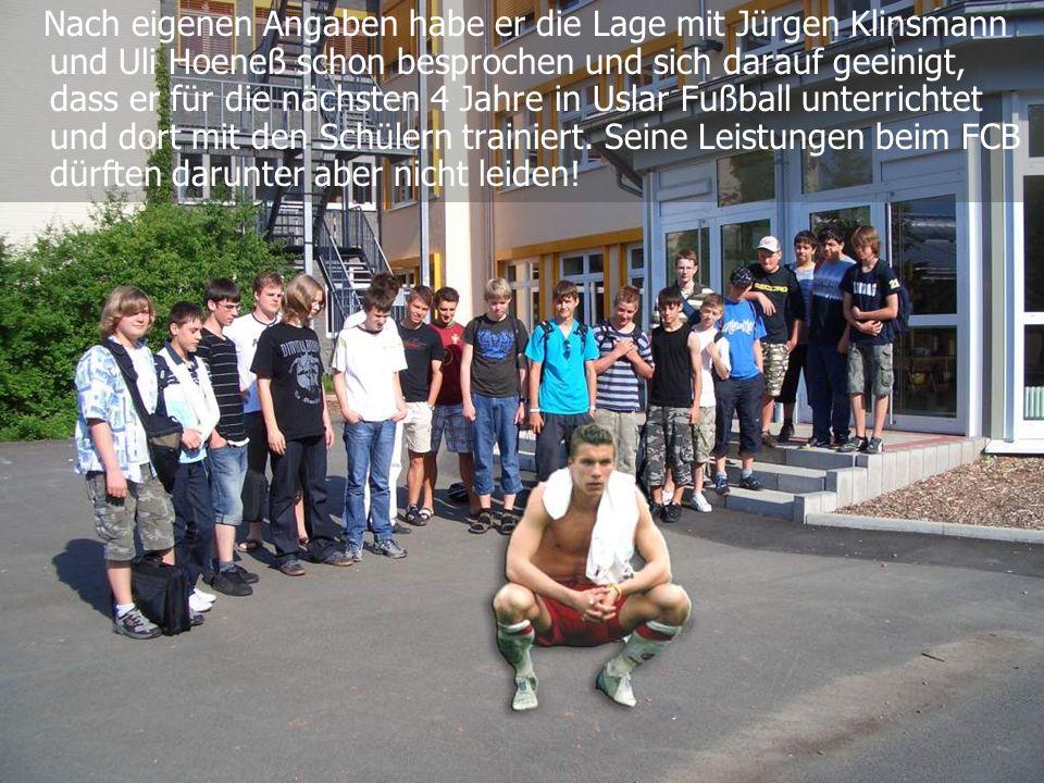 Nach eigenen Angaben habe er die Lage mit Jürgen Klinsmann und Uli Hoeneß schon besprochen und sich darauf geeinigt, dass er für die nächsten 4 Jahre