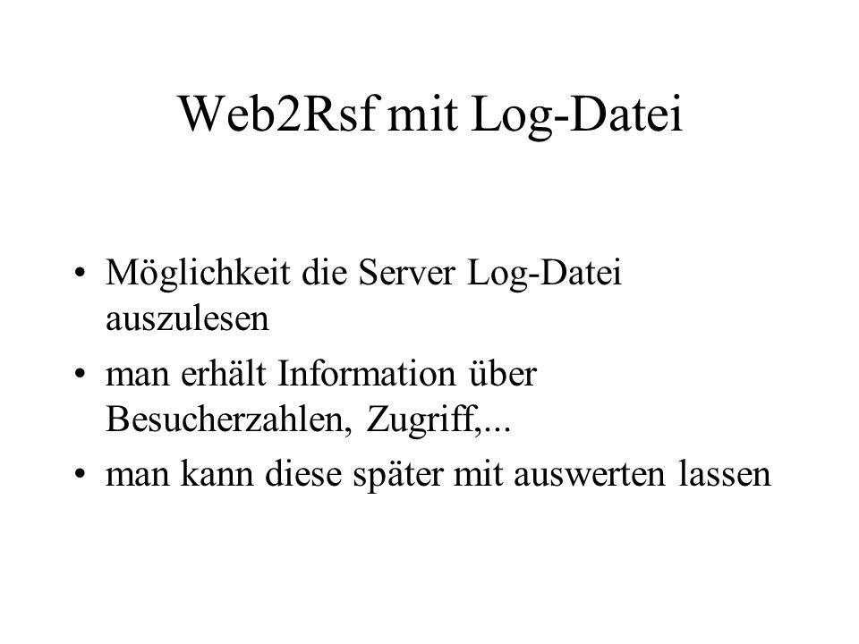 Die Rsf Datei Rsf, Rigi Standard Format in der Rsf-Datei stehen alle Daten über die geparste Seite diese Datei wird von Rigi ausgelesen
