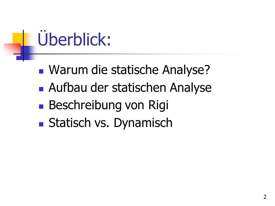 2 Überblick: Warum die statische Analyse.