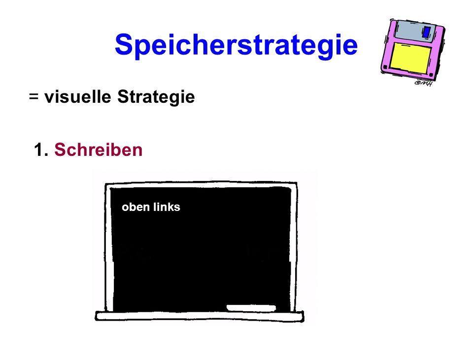 Auditive Strategien führen oft zu Rechtschreibfehlern! Hilfe durch visuelle und handlungsorientierte Strategien ?! Beispiel: