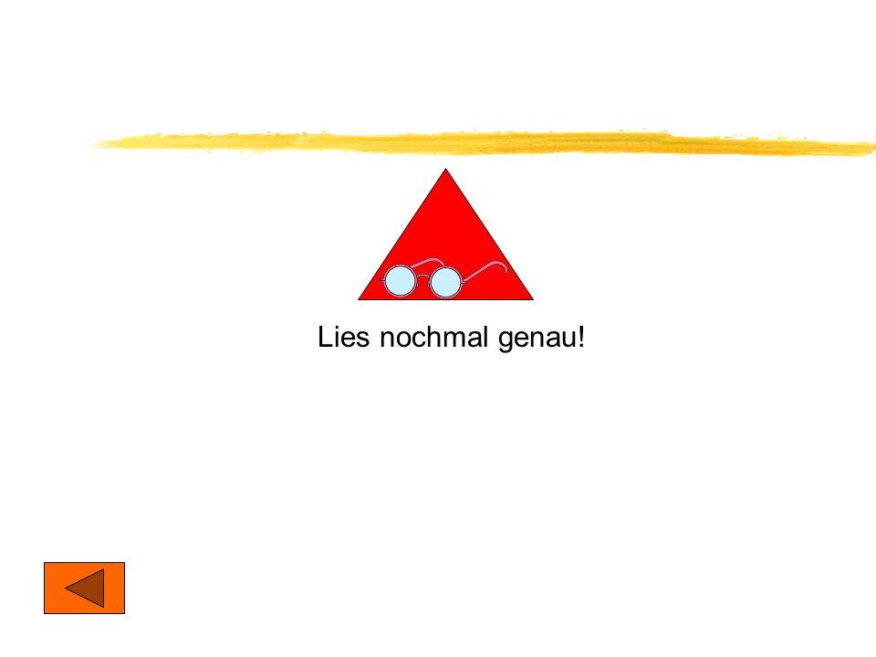 Stell Dir einen gelben Pfeil vor! Der Pfeil zeigt auf ein rotes Dreieck. Du siehst auch noch einen schwarzen Pfeil. Dieser Pfeil zeigt auf ein weißes