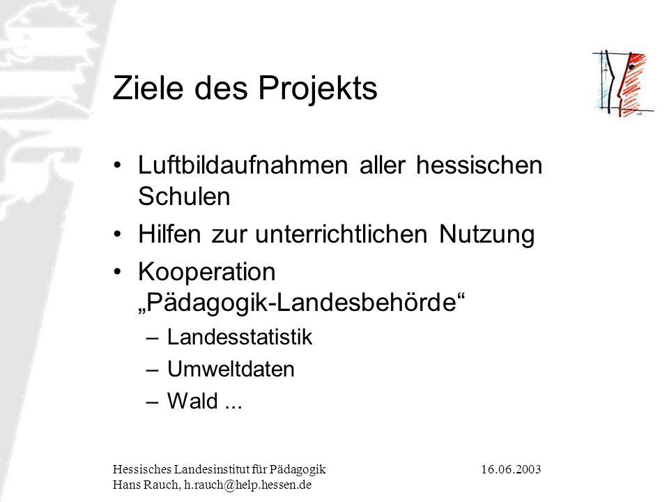 16.06.2003Hessisches Landesinstitut für Pädagogik Hans Rauch, h.rauch@help.hessen.de Didaktische Bedeutung von Raumdaten Abstraktion vs.