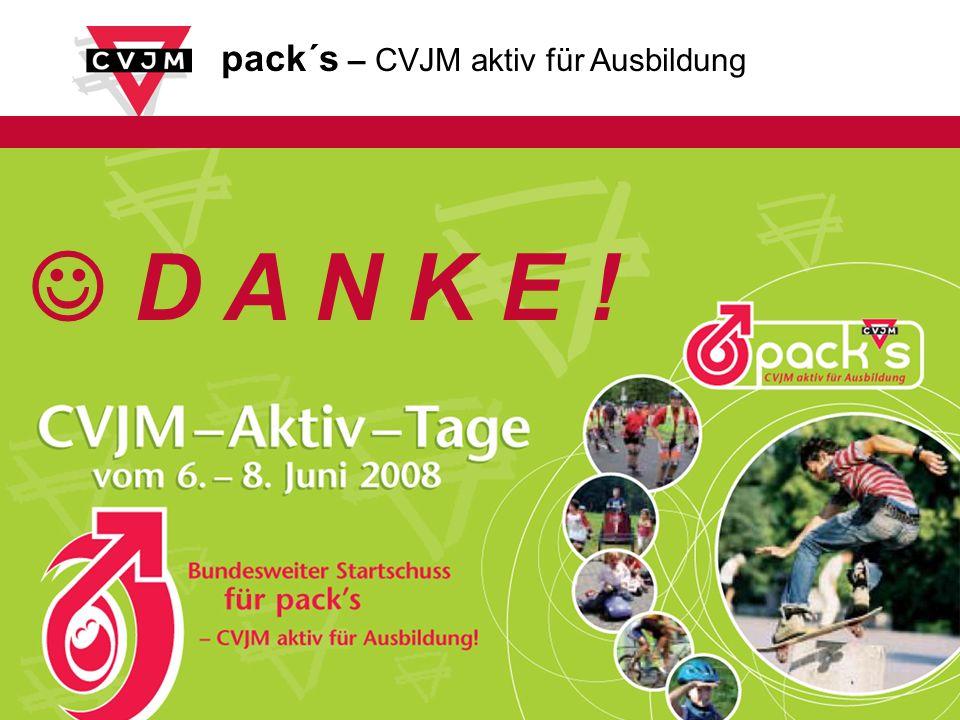 pack´s – CVJM aktiv für Ausbildung D A N K E !