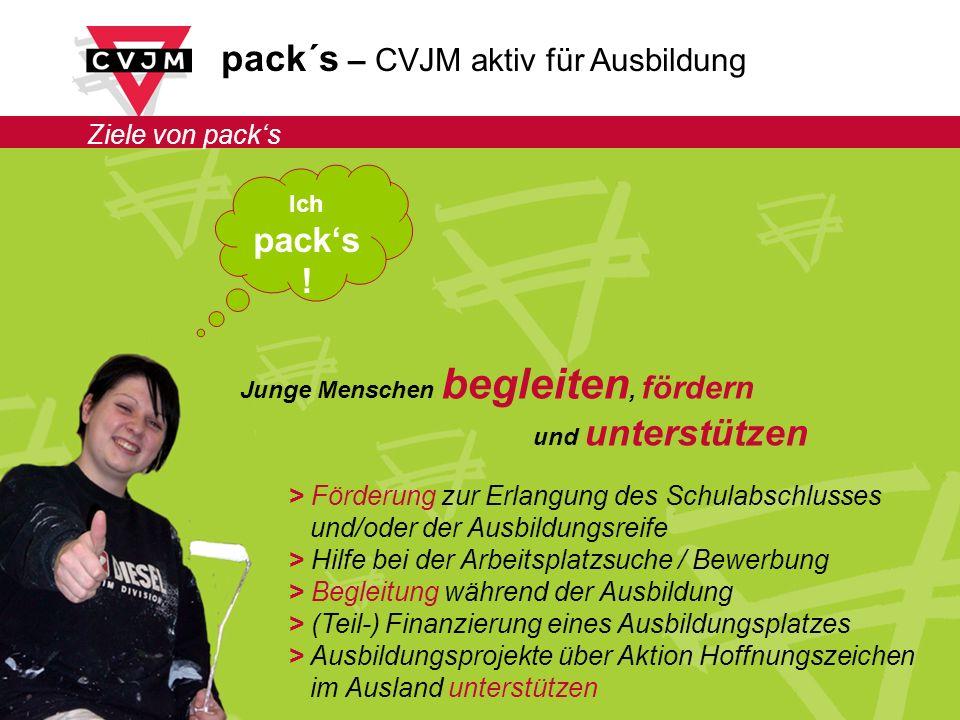 pack´s – CVJM aktiv für Ausbildung Ziele von packs Ich packs .