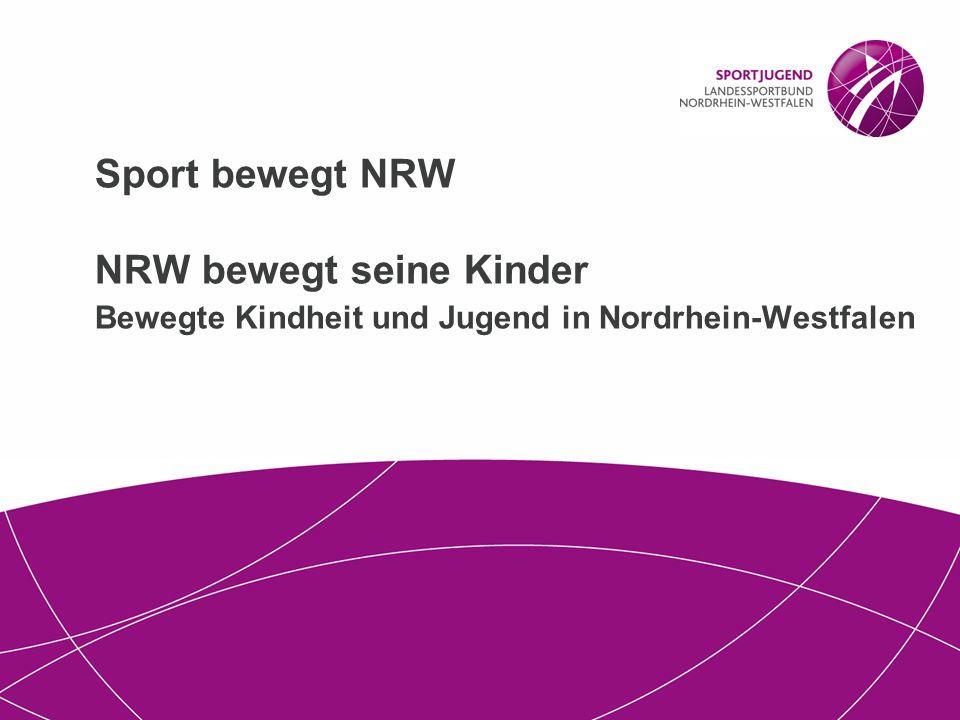 Sport bewegt NRW NRW bewegt seine Kinder Bewegte Kindheit und Jugend in Nordrhein-Westfalen