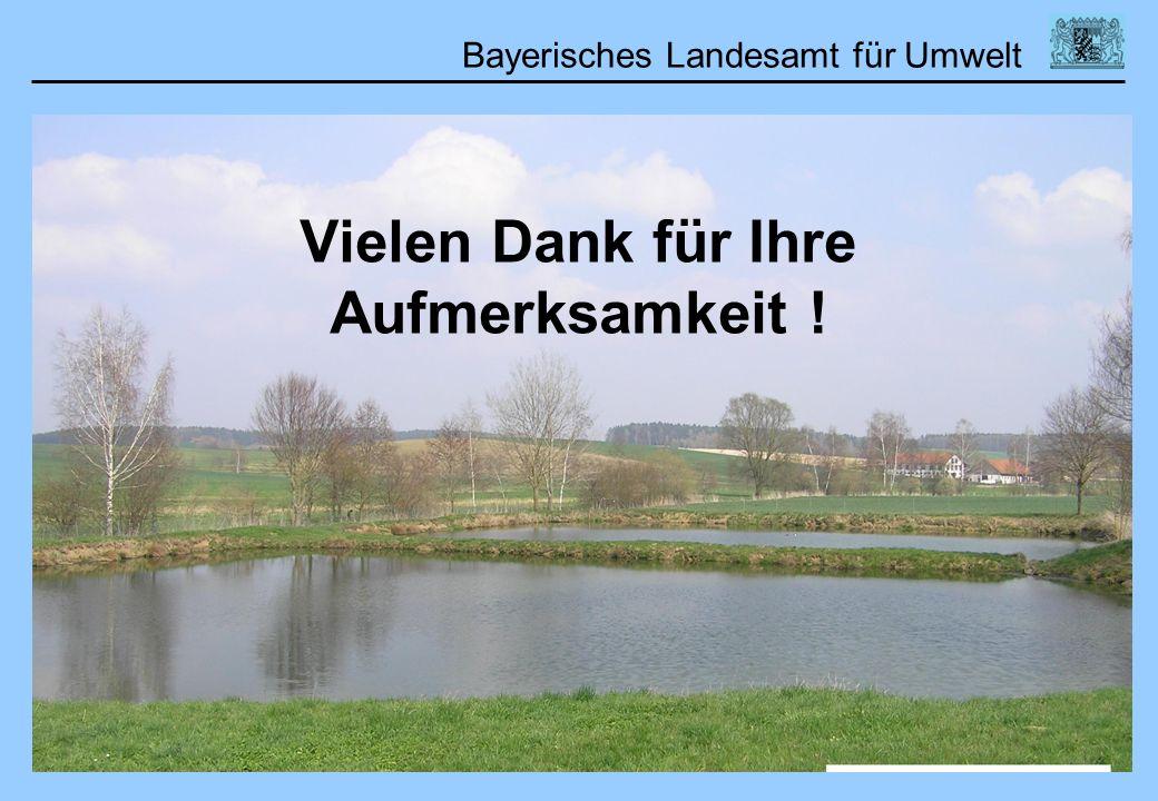 Bayerisches Landesamt für Umwelt Vielen Dank für Ihre Aufmerksamkeit !