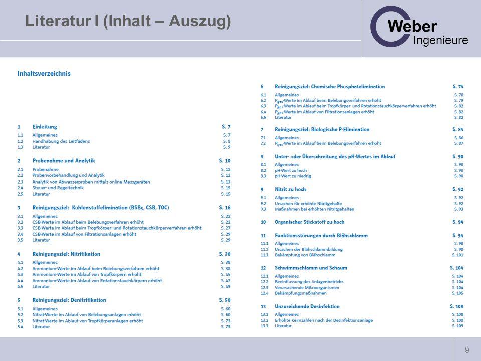 10 Weber Ingenieure Literatur I (Inhalt – Systematik)