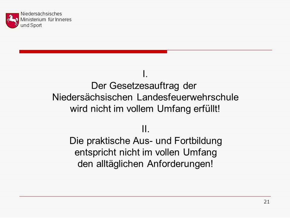 Niedersächsisches Ministerium für Inneres und Sport 21 I.