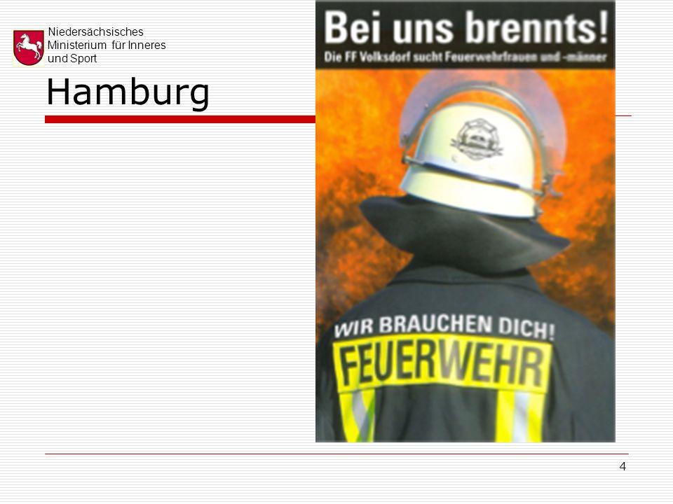 Niedersächsisches Ministerium für Inneres und Sport 15 Das 20-Maßnahmenpaket zur Sicherung des niedersächsischen Brandschutzes vor dem Hintergrund des demografischen Wandels