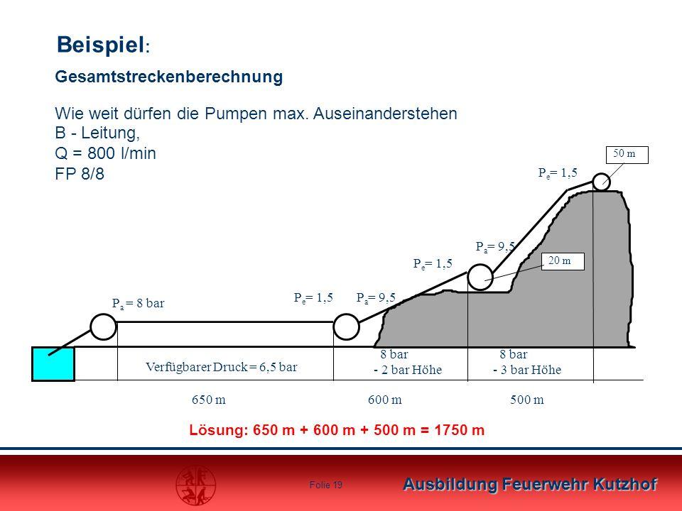 Ausbildung Feuerwehr Kutzhof Folie 18 Streckenberechnung Bei Höhenzunahme 100 )10:( xp Hp E R geoV 100x p p E R V