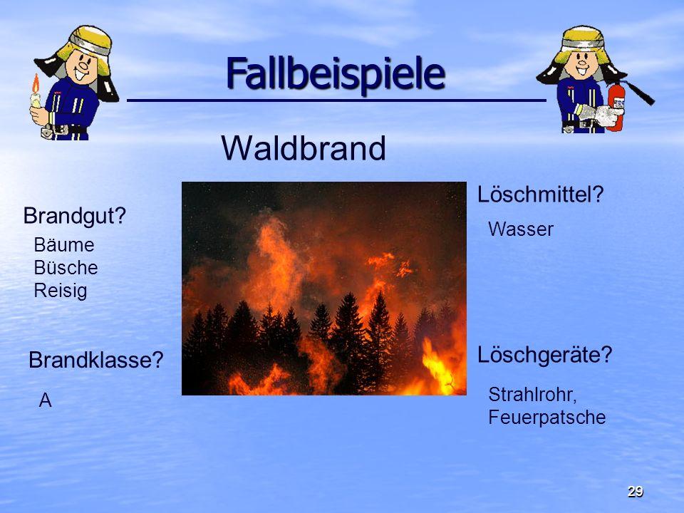 3030 Fallbeispiele Fallbeispiele Brandgut.Brandklasse.
