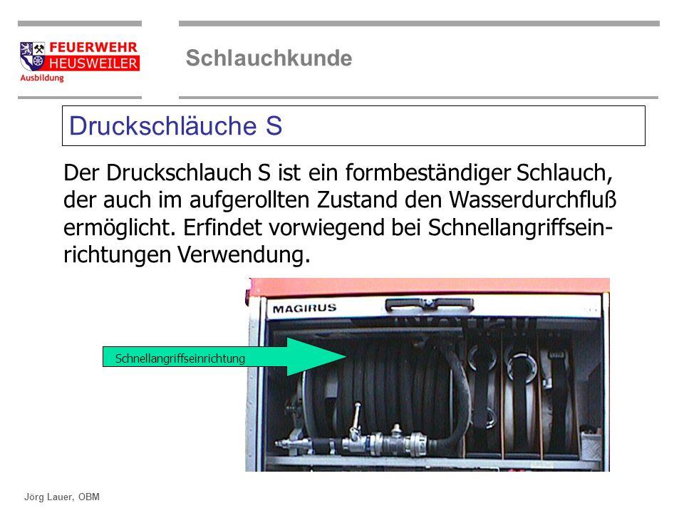 ©OBM Dirk Ziegler OBM Dirk Ziegler Schlauchkunde Jörg Lauer, OBM Druckschläuche S Der Druckschlauch S ist ein formbeständiger Schlauch, der auch im au