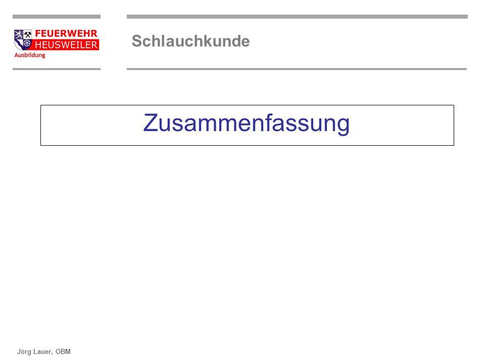 ©OBM Dirk Ziegler OBM Dirk Ziegler Schlauchkunde Jörg Lauer, OBM Zusammenfassung