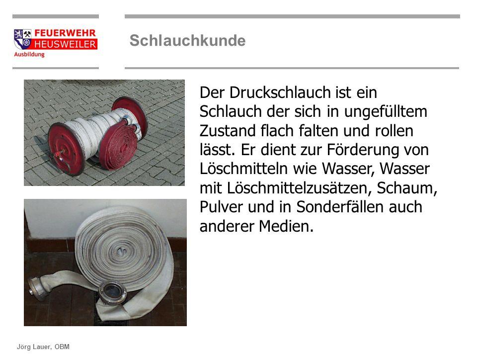 ©OBM Dirk Ziegler OBM Dirk Ziegler Schlauchkunde Jörg Lauer, OBM Durchmesser von Druckschläuchen Durchmesser in mm A110 B75 C42/52* D25 * C52 wurden früher hergestellt als Schaum noch über C Schläuche hergestellt wurde um eine bessere Vermischung des Wasser Schaummittelgemisch zu erreichen.