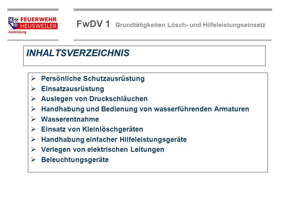 FwDV 1 Grundtätigkeiten Lösch- und Hilfeleistungseinsatz Der Einheitsführer weist die Haltemannschaft ein.