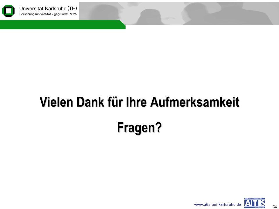 www.atis.uni-karlsruhe.de 34 Vielen Dank für Ihre Aufmerksamkeit Fragen?