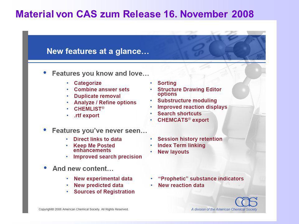 Release 16. November 2008 Was ist neu.