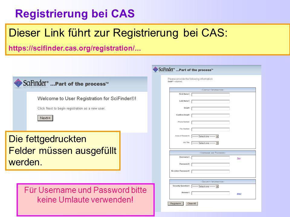 Material von CAS zum Release 16. November 2008