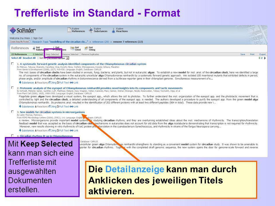 Dubletteneliminierung - Remove Duplicates Entfernung doppelter Treffer bei den Textstellen- nachweisen Doppelte Einträge in den Antwortsätzen können bei bis zu 10000 Dokumenten entfernt werden.