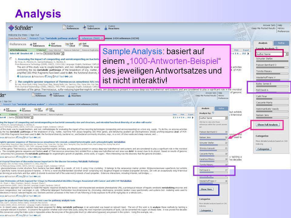 Zugriffe auf Volltexte in SciFinder Der Zugriff auf Volltexte ist über Full Text bei der Trefferliste oder Get Full Text aus der Detailanzeige zu einer Referenz möglich.