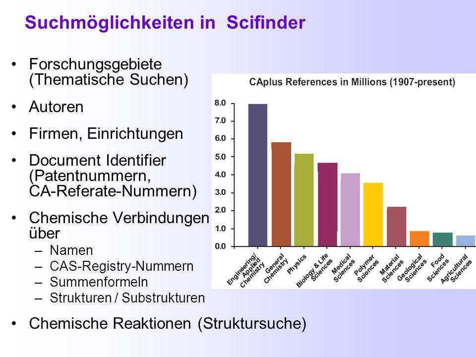 Datenbanken und Suchmöglichkeiten in Bibliographische Datenbanken Nachweise von Zeitschriftenartikeln, Patenten, Büchern, Dissertationen, etc.