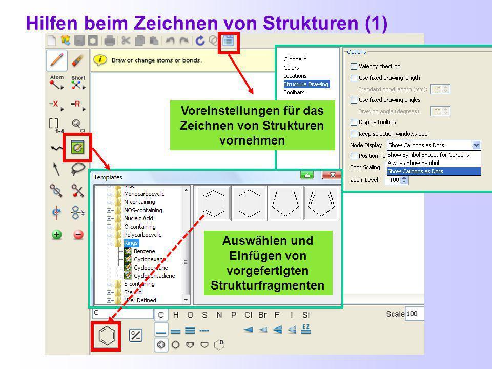 Voraussetzung zum Zeichnen chemischer Strukturen: Installation eines Java-Plug-ins http://java.sun.com/javase/downloads/index.jsp http://www.cas.org/misc/downloads/jreplugin.html 3.