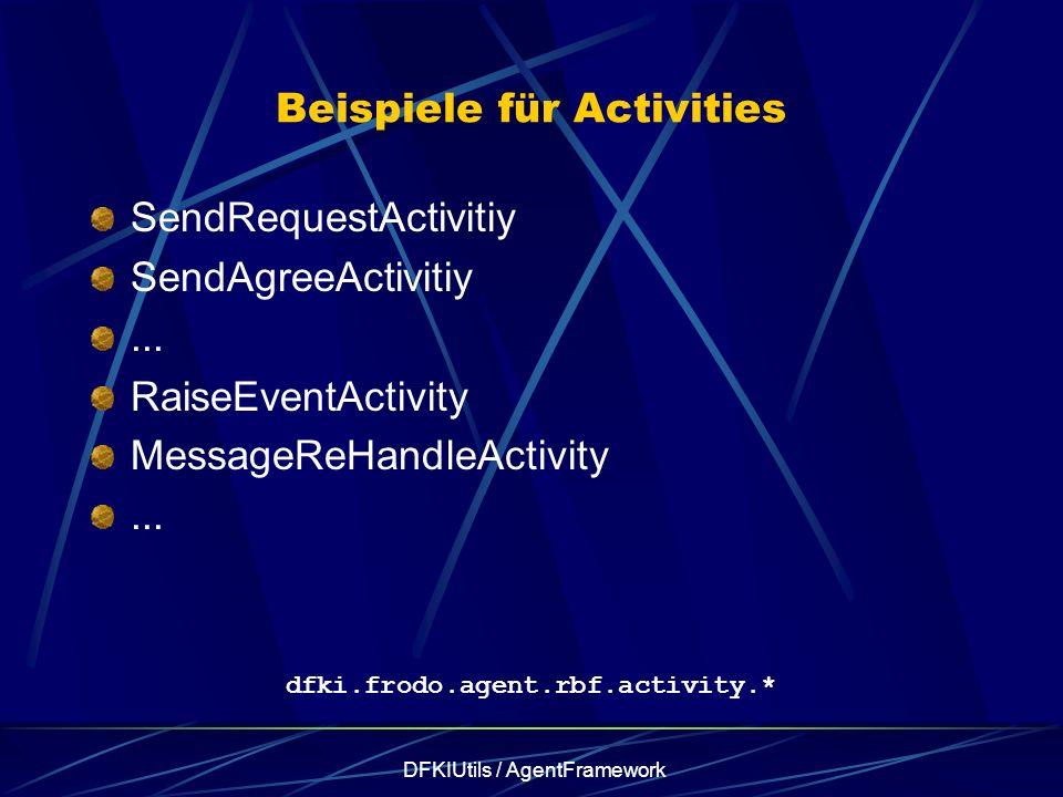 DFKIUtils / AgentFramework Beispiele für Activities SendRequestActivitiy SendAgreeActivitiy...