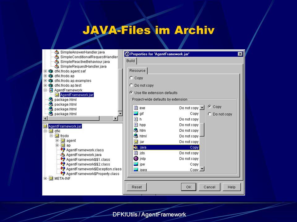 DFKIUtils / AgentFramework JAVA-Files im Archiv