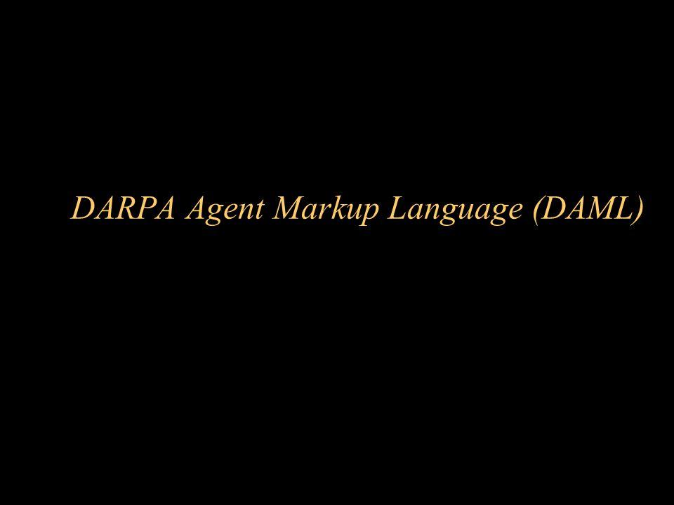 DARPA Agent Markup Language (DAML)